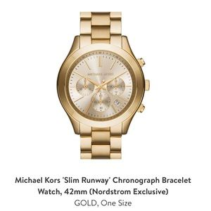 BRAND NEW MICHAEL KORS GOLD WATCH!!